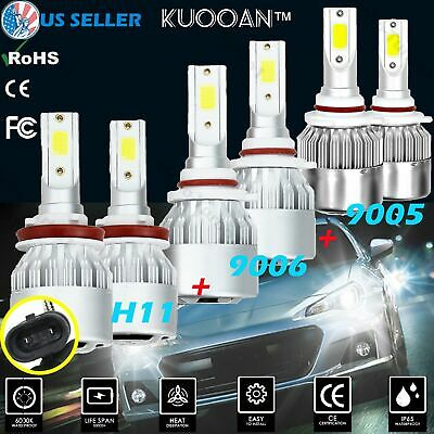 1x CREE 9005 LED Headlight HB3 200W 200000LM High Low Beam 6000K White Bulb Hot