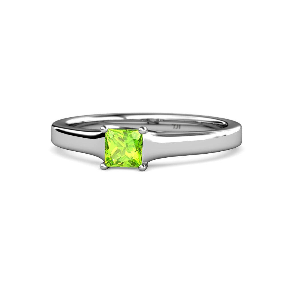 Princess Peridot Women Solitaire Ring 14K gold JP 81702