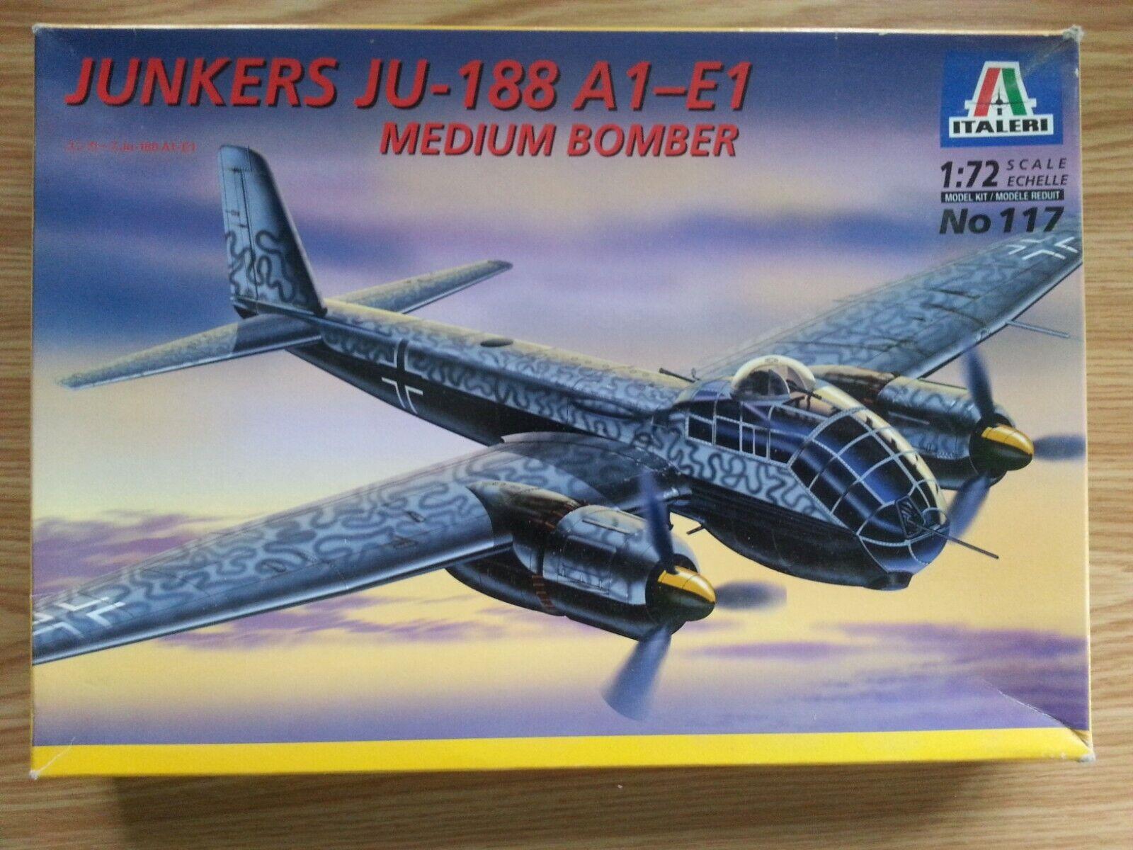 Italeri Junkers JU188 A1-E1 German Fighter Bomber 1 72nd Scale Model Kit
