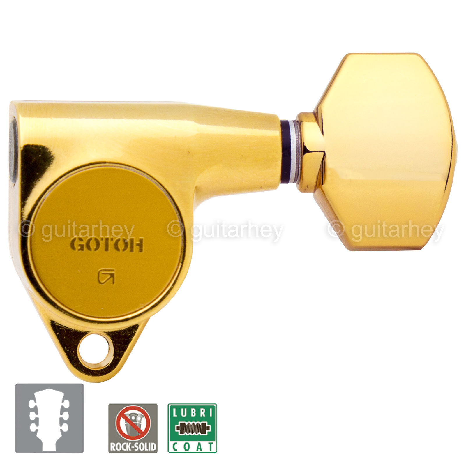 NEW Gotoh SG301-07 Tuning Keys L3+R3 Tuners Small Buttons 3x3 - GOLD