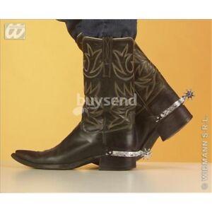 Image is loading Silver-spurs-cowboy-accessory-fancy-dress-wild-western- dc1e6d8de03