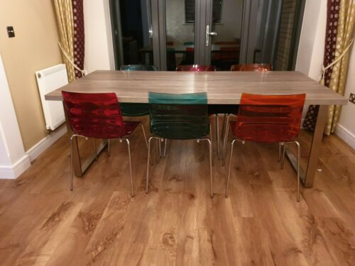 Connubia Calligaris Coloured Acrylic Chairs (4 available) For Sale in Pairs