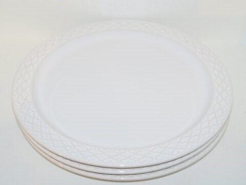 Porcelæn, Hvid Cordial / Palet  Rundt fad 29 cm., Hvid