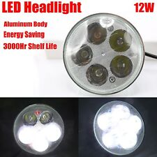 "5.6"" Universal Fit LED Xenon White Light Bulb Crystal Clear Motorcycle Headlight"
