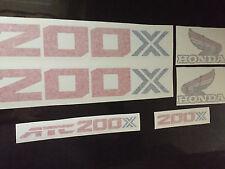 Honda 1986 200X ATC  Fender  Decals Graphic Kit  Full Set
