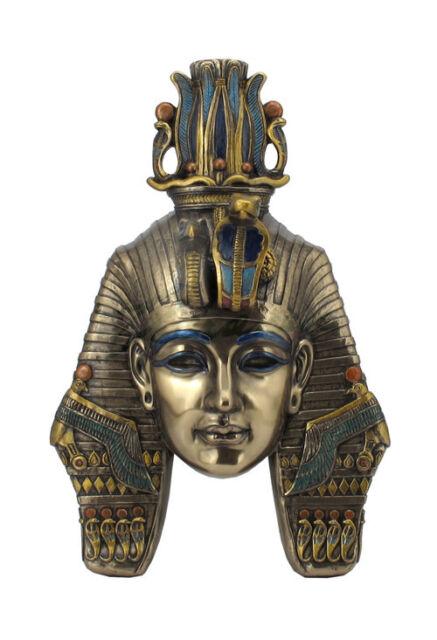 King Tut Tutankhamum Mask Egyptian Pharaoh Wall Plaque Sculpture