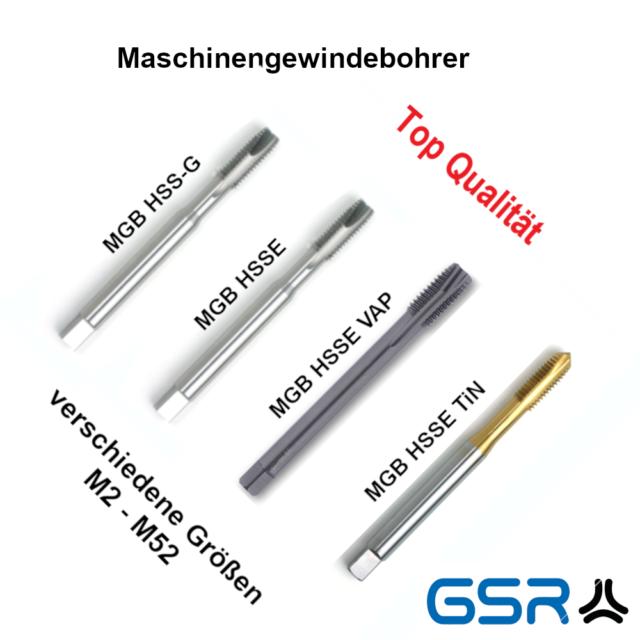 GSR PROFI Gewindebohrer M2-M36 HSSE-VAP Maschinengewindebohrer Gewindeschneider