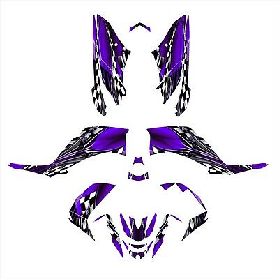 Yamaha Raptor 350 graphics custom racing ATV sticker kit #9500 Purple Zombie