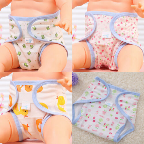 Baby Accessories Cute Animals Printed Cotton Diapers Washable Baby Diapers BH