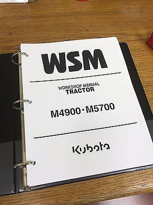 Kubota M4900 /& M5700 Manual de taller de tractor