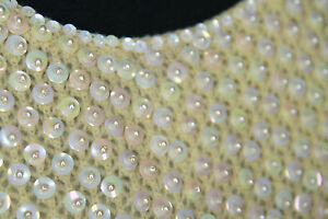 Vintage-1950s-sweater-S-cream-pearl-beaded-sequin-Tricoville-Hong-Kong-evening