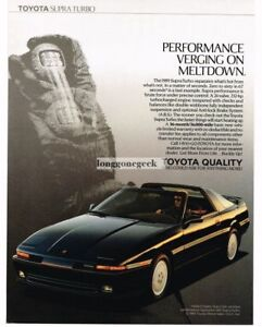 1989 Toyota Supra Dark Blue Vintage Ad