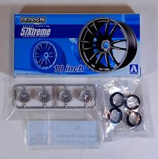 "Aoshima 1/24 Rays 57Xtreme 18"" Wheel Rims & Tire Set Plastic Models 5301 (23)"
