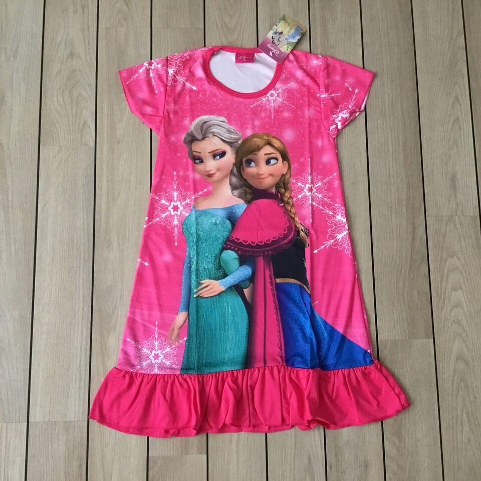 Kjole, Hot pink Frost kjole, Frost kjole med Elsa og Anna