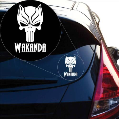 Laptop #1010 Black Panther Skull Panther Wakanda Decal Sticker for Car Window