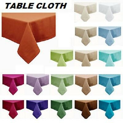 FLANNEL BACK TABLE CLOTH : RECTANGLE : PICK A COLOUR : TABLECLOTH : BRAND NEW