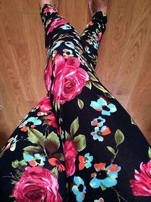 Stella Elyse Multicolor Flower Floral Bouquet Printed Leggings