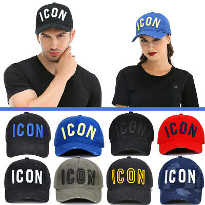 DSQ2 ICON NERO NUOVO Cappellino Baseball Cotone Cappello UOMO DONNA Snapback