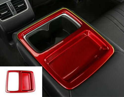 For Honda Accord 2018-2019 Red ABS Car Interior Rear water cup holder frame trim