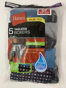 "Hanes Men's 5pk Tagless Boxer Briefs - S/P (28-30"") Assorted Prints Colors Vary"