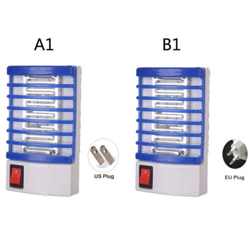 US//EU Plug LED Electric Mosquito Fly Insect Killer Kills Catch Trap Light ZKY