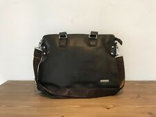 Mens Dark Brown Leather Laptop Bag Messenger Shoulder - Brand New - Clearance