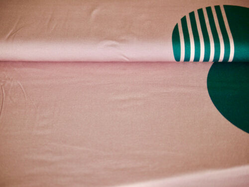 Baumwoll-Jersey Stoff Jersey rosa Riesen Polka Dots T-Shirt-Stoff  Damen