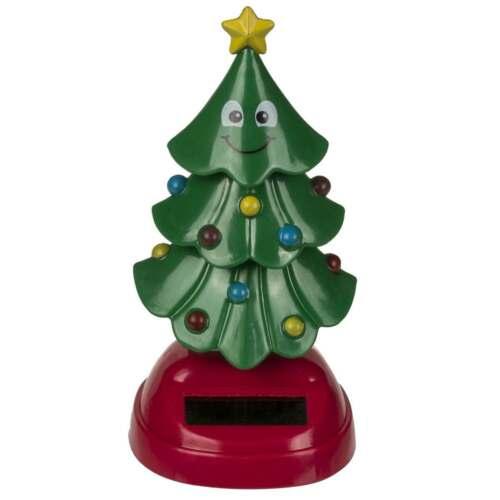 Solar Wackelfigur Weihnachtsbaum Solarfigur Scherzartikel Wichtelgeschenk  Deko