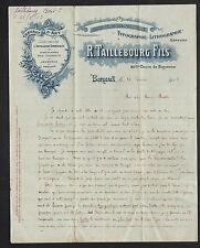 """BORDEAUX (33) IMPRIMERIE ST-ANDRE / Travaux d'Art """"R. TAILLEBOURG Fils"""" en 1913"""