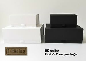 Details About Luxury Magnetic Gift Box Medium White Black Wedding Bridesmaid Gift Ideas Uk