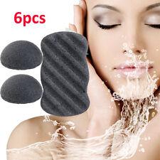 6pcs Natural Konjac Konnyaku Facial Puff Body Cleanse Washing Sponge Exfoliator