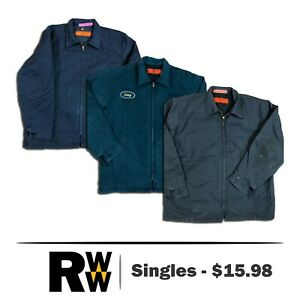 5949f99be Red Kap Jacket Men's Perma Lined Panel JT50 Navy / Charcoal / Green ...