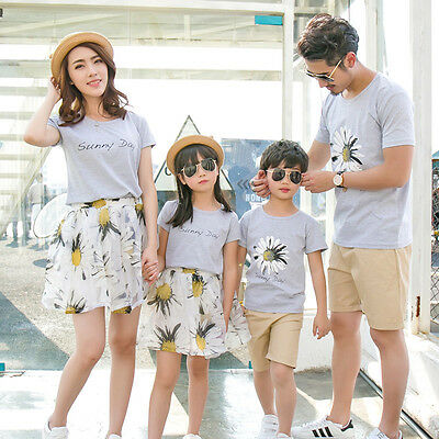 6a46c73243 Matching father mother daughter son clothes mommy and me beach dress family  look