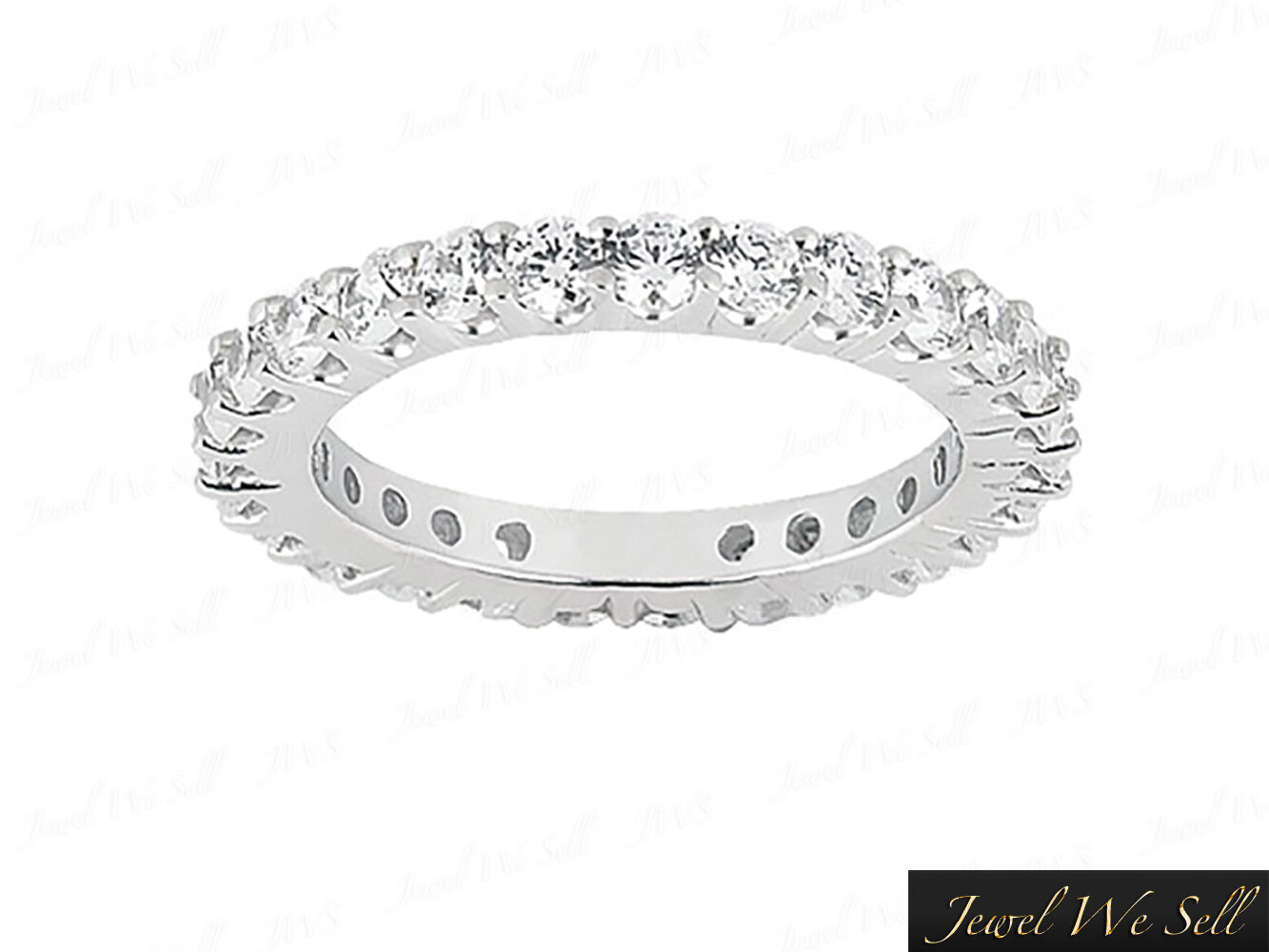 Natural 2.00Ct Round Diamond Shared Prong Eternity Wedding Ring 10K gold I SI2