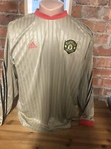 ADIDAS-Manchester-United-Man-Utd-Maniche-Lunghe-Formazione-Calcio-Camicia-Adulti-XL