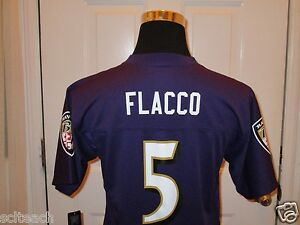 Brand New w/Tags NFLPA Baltimore Ravens Joe Flacco #5 Home Purple ...