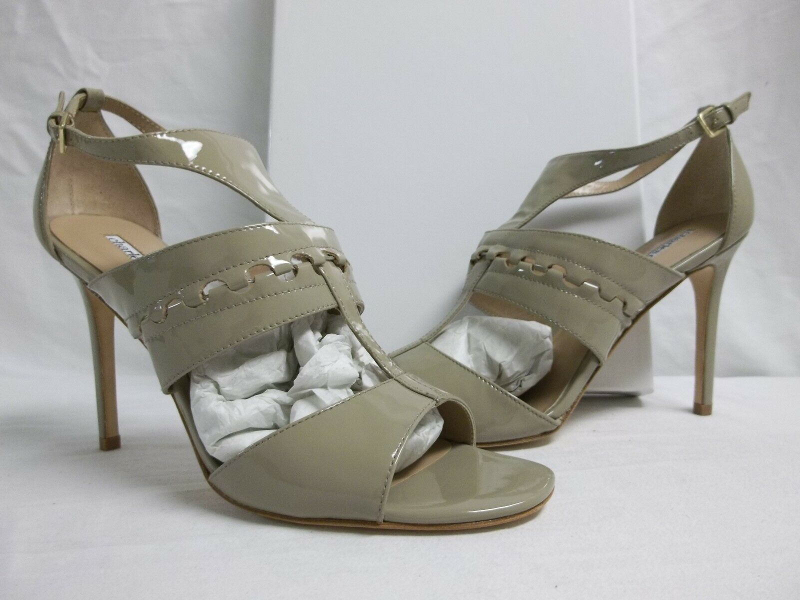 Charles David Size 10 M Rapture Fossil Patent Open Toe Heels New Womens shoes