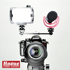 Hague Double Accessory Hot Shoe Mount for DSLR Cameras, Lights & Microphones