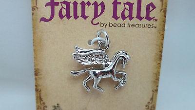 1 Pegasus charm antique silver tone A576