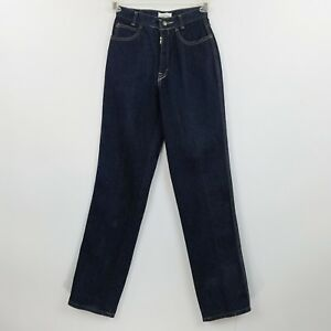VTG-Calvin-Klein-Womens-Jeans-Sz-7-High-Waist-Mom-Dark-Blue