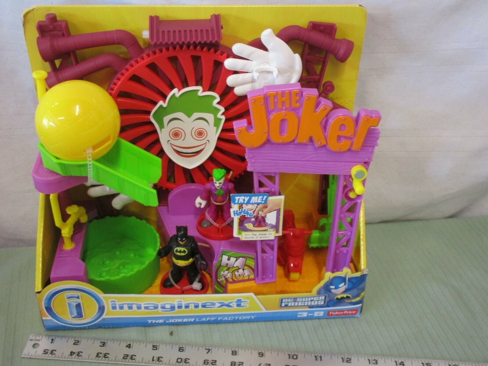 Fisher Price imaginext Joker Fun House Laff Factory Laugh NY LSD boll pit leksak