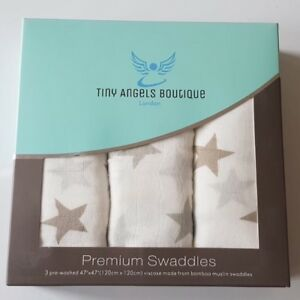 Premium White Baby Muslin Squares Swaddle Blanket 100/% Cotton 75x75 Burp Cloth