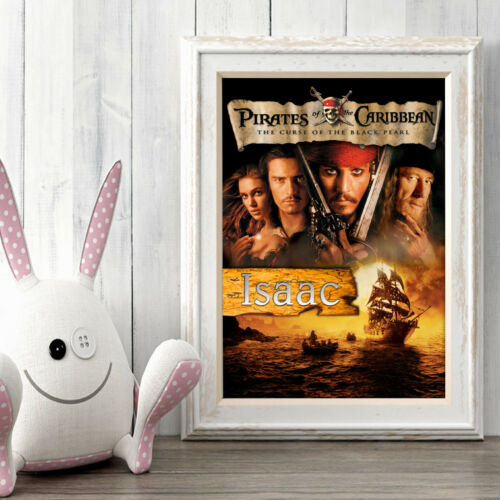 Pirates of the Caribbean Personalised Poster A5 Print Wall Art Custom Name ✔