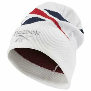 Reebok-Classic-Lost-and-Found-Beanie-Hat-One-Size-White-RRP-25-Brand-New-DH3555