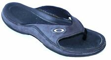 OAKLEY Men's Black Leather Slide Flip Flops Thong Sandals sz 7M perfect