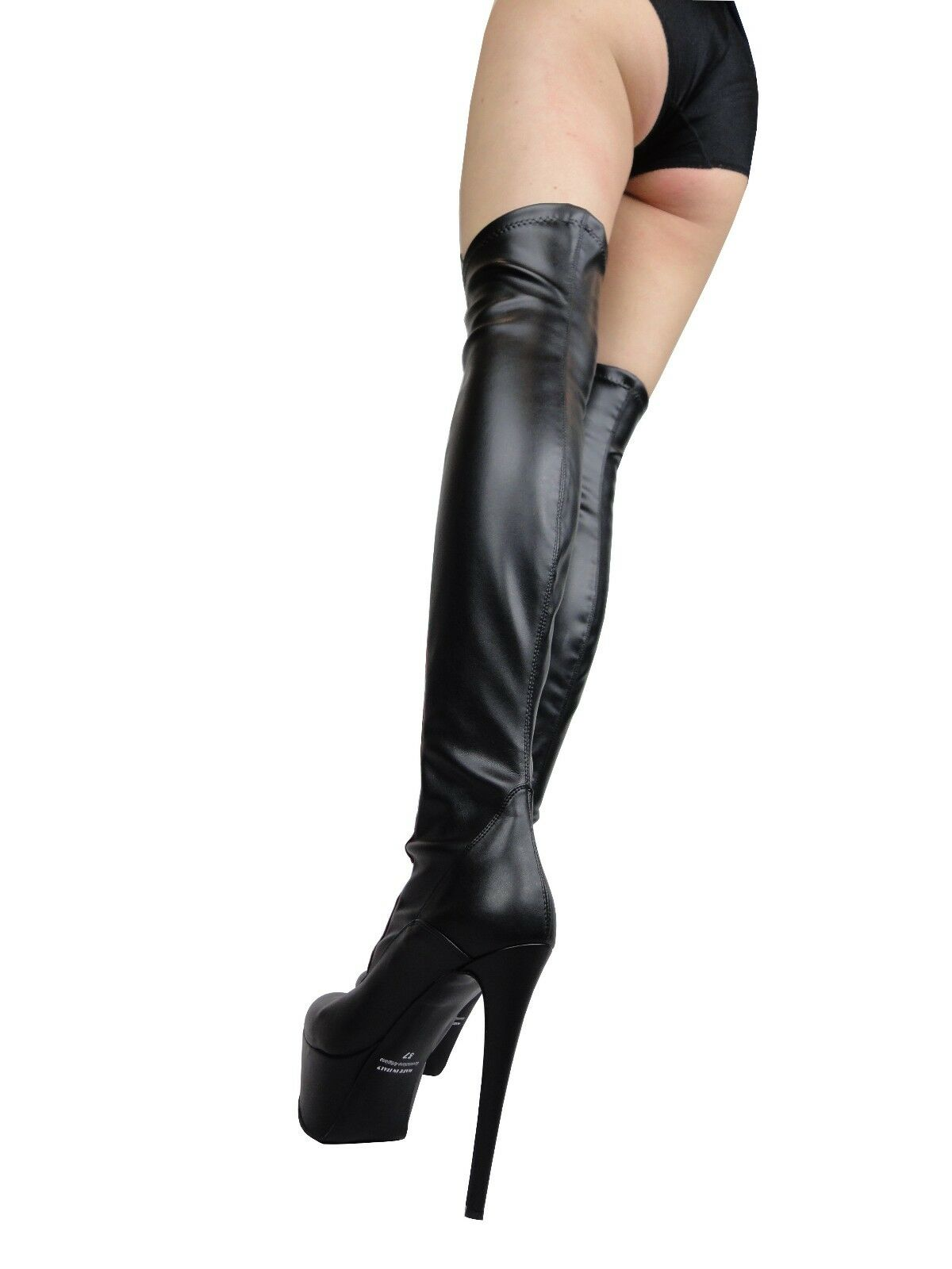 GIOHEL STIEFEL PLATFORM OVERKNEE BOOTS STIEFEL GIOHEL BOTTES STRETCH CORSET BLACK RED NOIR 38 52f8fe