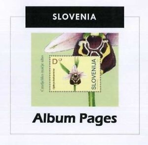 Slovenia-CD-Rom-Stamp-Album-1991-2016-Color-Illustrated-Album-Pages