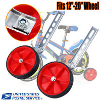 Red Sports Training Wheels Fits Most 12- 20 Bike Kids Bicycle Training