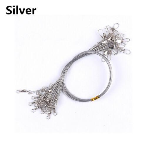 Stainless Steel Fishing Collar 15-25cm Lead Wire Anti-bite Swivel Collar