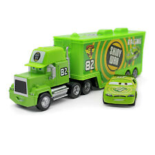 MT Disney Cars No.82 Shiny Wax Hauler Truck & Racer Diecast Toy Car 1:55 Loose
